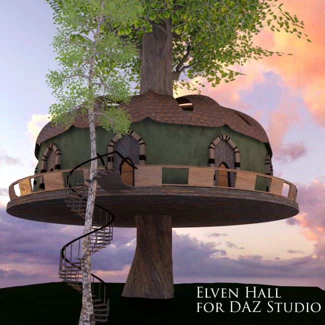 Elven Hall for DAZ Studio
