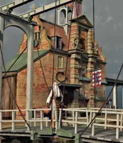 MS18 Brugge Postal Building for obj/fbx - Extended License