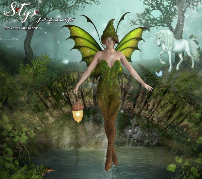 StyX for the Genesis 3 and  Genesis 8 Females
