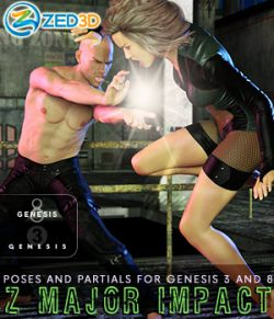 Z Major Impact- Poses for Genesis 3 and 8 Male and Female