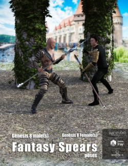Fantasy Spears Poses for Genesis 8 Male(s) and Female(s)