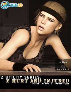 Z Utility Series: Hurt and Injured- Poses, Partials and Expressions for Genesis 3 and 8