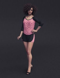 dForce Lace Sleep Wear Outfit for Genesis 8 Female(s)