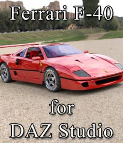 Ferrari F-40 for DAZ Studio