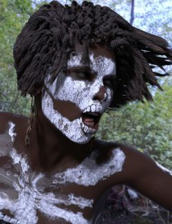 Mama Legba Dreadlocks Hair for Genesis 8 Female