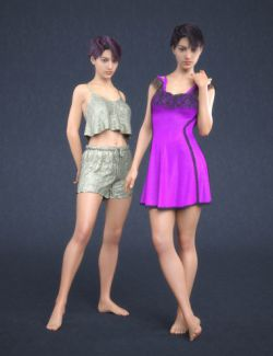 dForce Pajamas Collection for Genesis 8 Female(s)