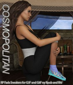 COSMOPOLITAN- RP Fads Sneakers for Genesis 3 and Genesis 8 Females