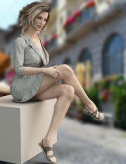 dForce X-Fashion Boho Dress Outfit for Genesis 8 Female(s)