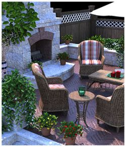 Garden Fireplace for Poser and DS