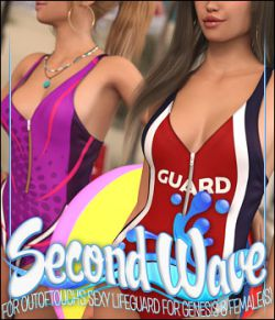 Second Wave for Sexy Lifeguard Body for Genesis 8 Female