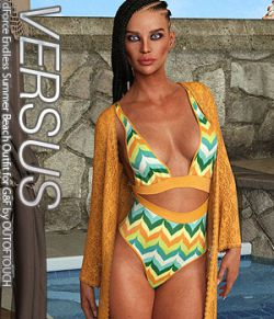 VERSUS- dForce Endless Summer Beach Outfit for Genesis 8 Female(s)