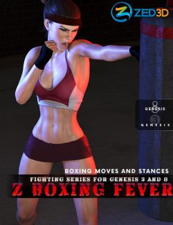 Z Fighting Series: Boxing Fever- Poses and Partials for Genesis 3 and 8