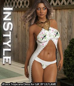 InStyle - dForce Tropicana Dress for Genesis 8 Females