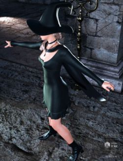 dForce Sorceress Outfit for Genesis 8 Female(s)
