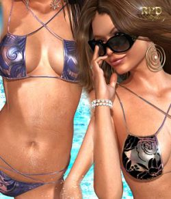 Strappy Two Piece Bikini Set I- Fashion Metalics
