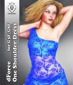 JMR dForce One Shoulder Dress for G3F and G8F