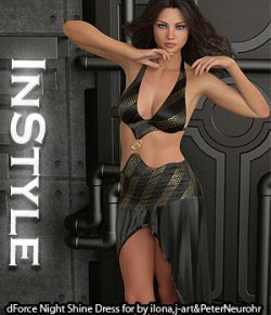 InStyle- dForce Night Shine Dress for Genesis 8 Females