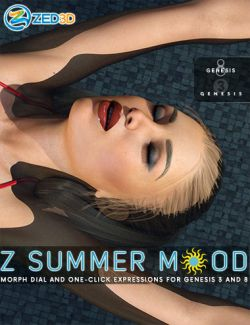 Z Summer Mood- One-Click and Morph Dial Expressions for Genesis 3 and 8