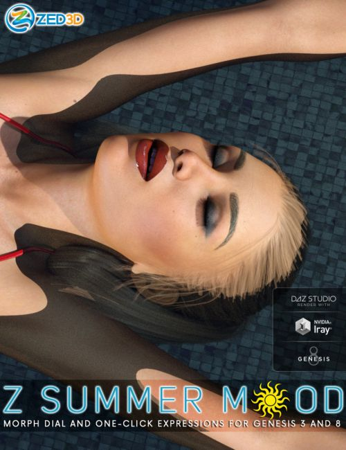 Z Summer Mood - One-Click and Morph Dial Expressions for Genesis 3 and 8