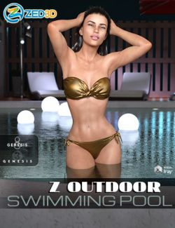 Z Outdoor Swimming Pool Environment and Poses