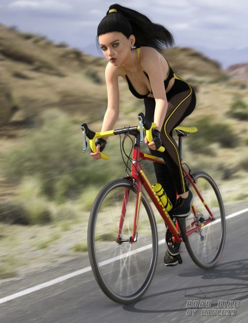 Road Bike and Poses for Genesis 3 and 8