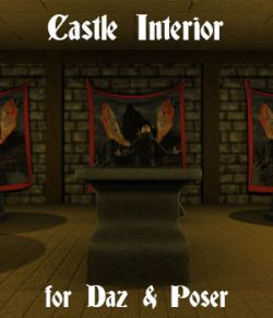 Castle Interior for Poser and Daz Studio