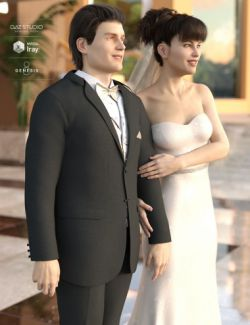 Wedding Photo Shoot Poses for Genesis 8 Male(s) and Female(s)