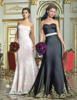 The Bride Wedding Gown Textures