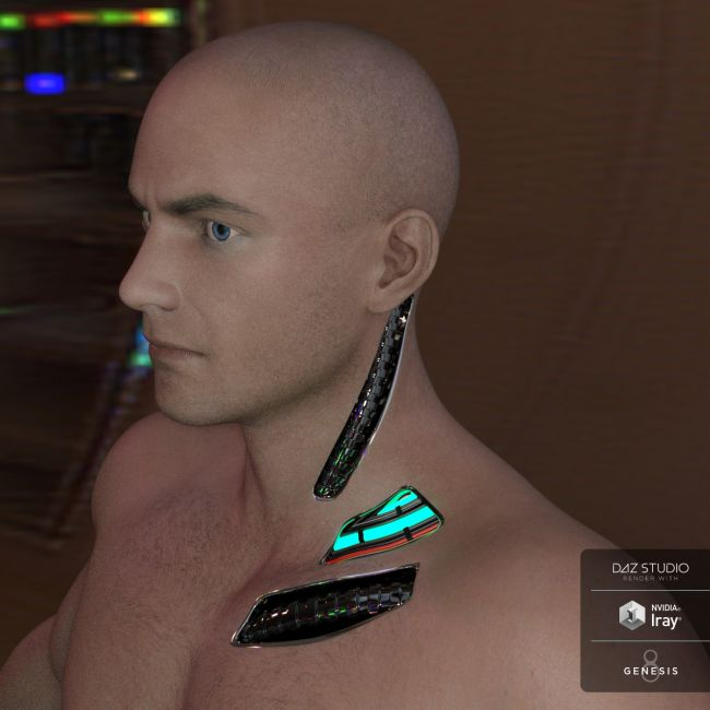Cybernetic Neck for Genesis 8 Males