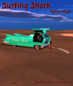 Surfing Shark poser prop