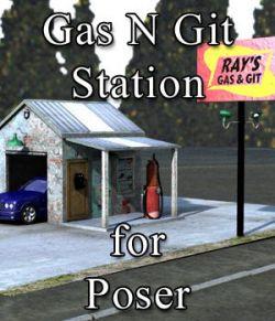 Gas N Git Station for Poser