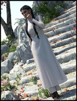 dForce Ao Dai Outfit for Genesis 8 Female(s)