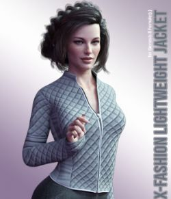 X-Fashion LightWeight Jacket for Genesis 8 Females