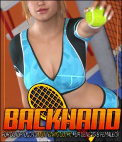 Backhand for HOT Tennis Outfit for Genesis 8 Females