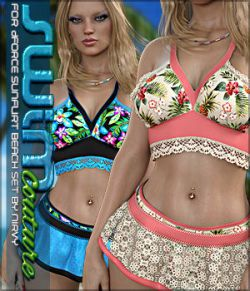 SWIM Couture for dForce SunFlirt Beach Set G8F