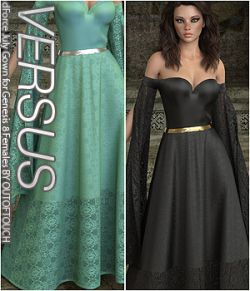 VERSUS- dForce July Gown for Genesis 8 Females