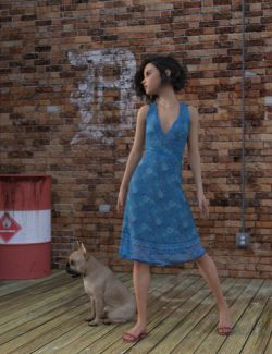dForce Beachflower Summer Dress for Genesis 8 Female(s)