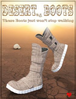 Desert Boots for Genesis 8 Female(s)