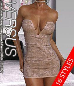 VERSUS- dforce Sweet & Sexy Three Scrunch Dress G3FG8F EXPANSION 2