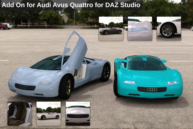 Add On for Audi Avus Quattro for DAZ Studio