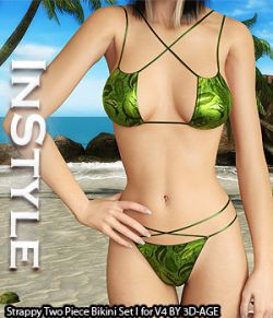 InStyle- Strappy Two Piece Bikini Set I for V4A4G4S4Elite and Pose