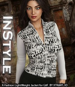 InStyle- X-Fashion LightWeight Jacket for Genesis 8 Females