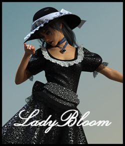 Lady Bloom for dForce Blooms of Lace for Genesis 8 Females
