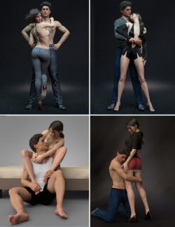 Intertwining Poses for Victoria 8 and Michael 8
