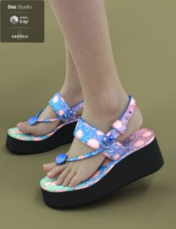 Jiwoo Sandals for Genesis 8 Female(s)