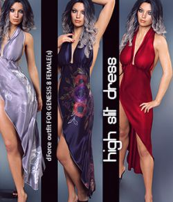 dForce High Slit Dress for Genesis 8 Females