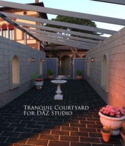 Tranquil Courtyard for DAZ Studio