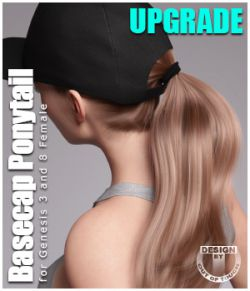 Basecap Ponytail Hair for Genesis 3 and 8 Females- UPGRADE