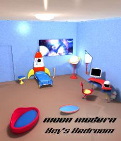 Moon Modern Boys Bedroom
