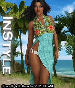 InStyle- dForce High Slit Dress for Genesis 8 Females
